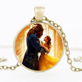 Beauty and the beast gem necklace pendant Beauty and the Beast 2018 fashion jewelry