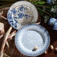 Elegant Fine New Bone China 7.5 Inches Blue Dinner Plate of Blue Dream