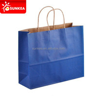 Custom made carry out paper shopping bags