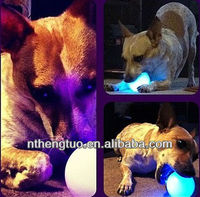 Colorful Led ball pet toy/cheap bouncing ball/rubber ball