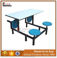Fiber glass modern restaurant furniture dining tables and chairs