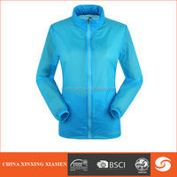 2014 fashionable spring women blue nylon lightweight jackets