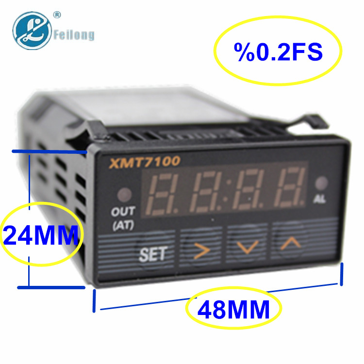 Mini XMT Digital PID temperature controllers with panel size 24*48mm
