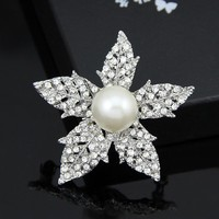 USA One Dollar Shop Large Pearl Brooch Wholesale Antique Brooches for Sale