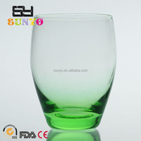 Factory Price Sodalime green solid color leadfree crystal high quality drinking water whisky shot glass clear transparent