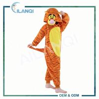 ALQ-C030 Flannel fabric type winter tigger costume kids onesie pyjamas