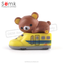 Custom design small plastic pvc bear figurine for promotional gifts