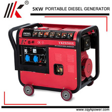 5000 Watt Small Power Portable diesel alternator 5kw Silent Diesel Generator for Sale in Africa