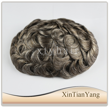 Alibaba express factory price men toupee in stock thin skin toupee , hair toupee for black men with wholasale price
