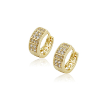 96438 xuping wholesale artificial gemstone jewelry gold plated copper alloy earring hoops