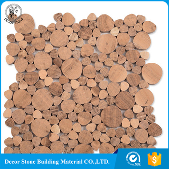 Brown Onyx Marble Stone Irregular Heart Shaped Mosaic Tiles