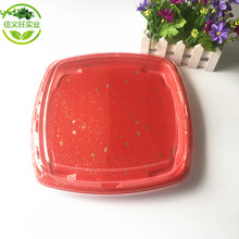 plastic sushi box disposable serving trays for home , garden party food plastic tray XYW-8127