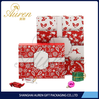 Shanghai factory rigid collapsible foldable gift paper packaging box