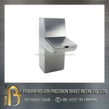 China CNC engineering machinery custom made stainless steel control console enclosures manufacture