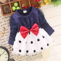 D71128H 15 children's clothing organza princess dress Korean long-sleeved dress for girls