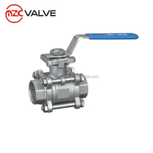 1/2'' 3 piece 316 Full Port Stainless Steel Ball Valve