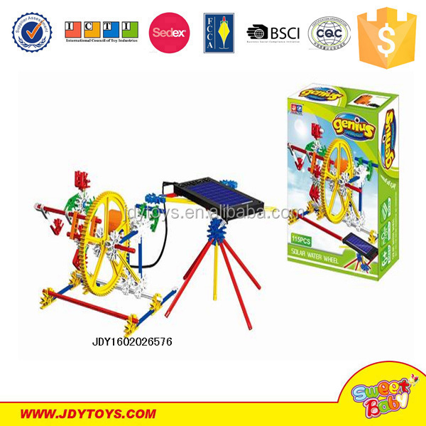 Solar power plastic construction plastic building blocks for sale