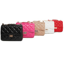 Quilted leather handbag fashion chain clutch bag brand women bags