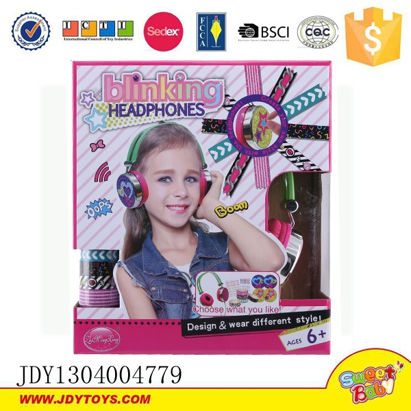 Newest product DIY headset with decorations kids headphones