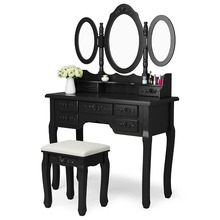 Mirrored Furniture Dresser Bedroom Dressing Table With Drawers