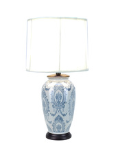 Luxury table lamp porcelain blue and white vase table lamp antique showpieces for home decoration