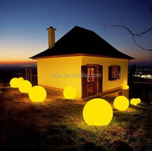 led PE plastic garden led light green yellow red waterproof balls