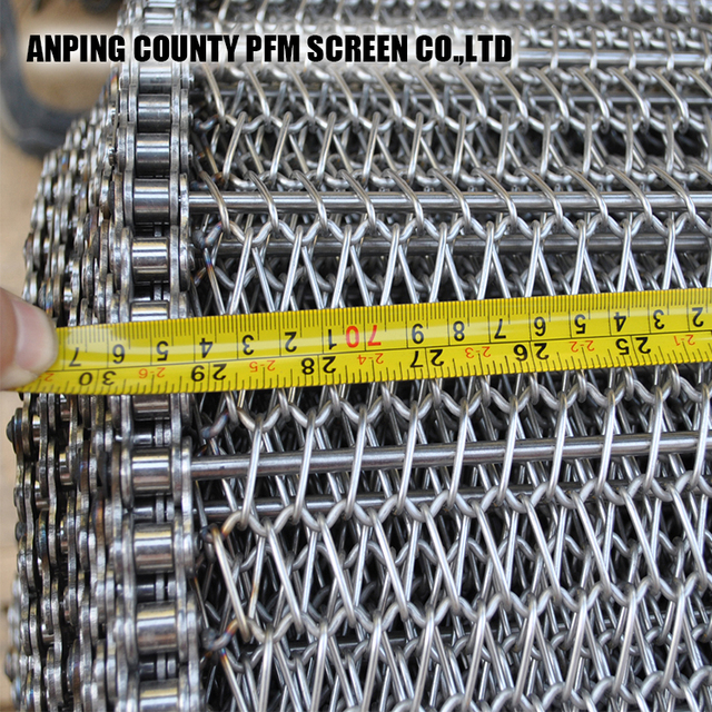 stainless steel Rod Driven Chain Conveyor Belt Mesh for foods processing
