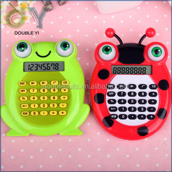 Top sale mini cute cartoon frog calculator for children