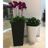 Tall Tapered Square Planter For Super Mall Decor