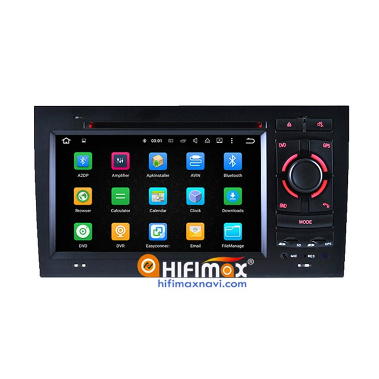 7 inch Andriod 5.1 Autoradio GPS DVD for Audi A4 Navigation Head unit - OBD DAB Quad Cord 16G HD 1080P Support A4 Bose System