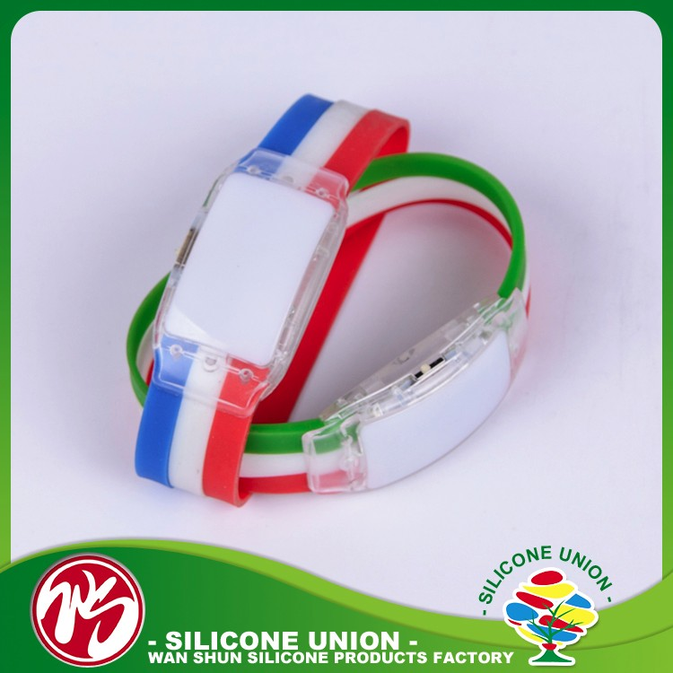 Modern rubber customised thin personalized silicone bracelets