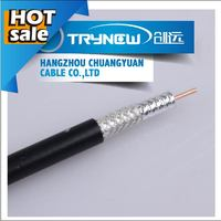 rg11 solid copper coaxial cable, pvc /pe jacket