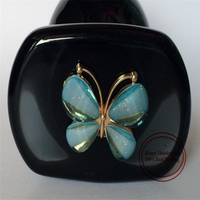 CT-ht07-D Blue Butterfly Black Plug Unisex Anal Masturbation Beads Anal Plug For Women Man Sex Toys Hot Sale Crafts Flower