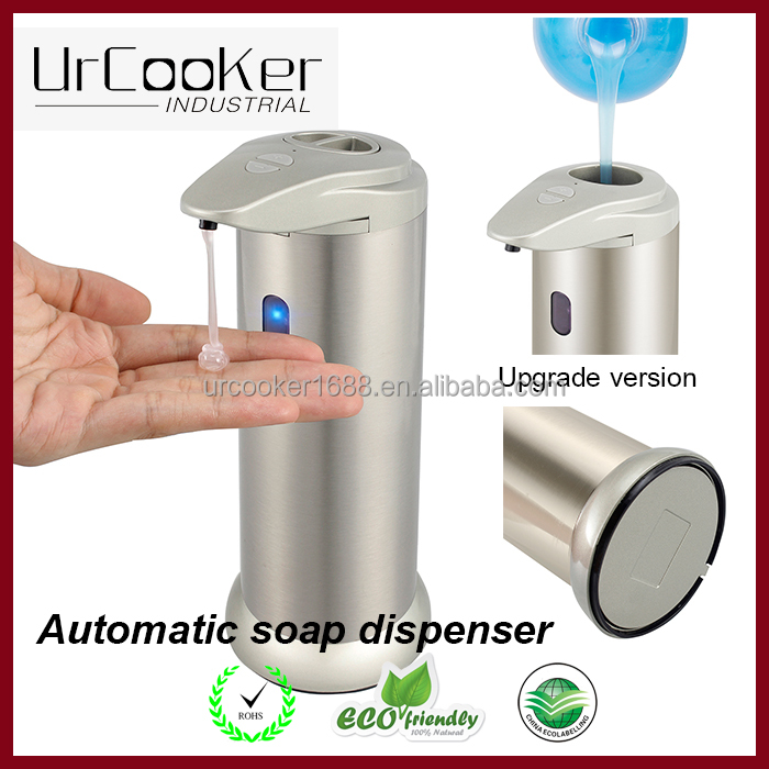 Bathroom accessories luxury champagne color automatic touchless hand liquid soap dispenser