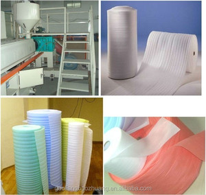 High Density white Expandable Polyethylene White EPE Foam Sheet Packing With Perforated Line In Roll