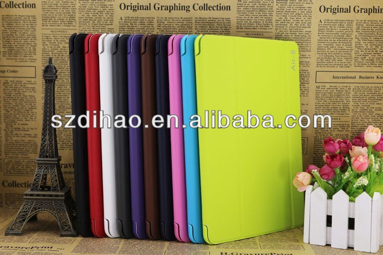 New arrival good leather case for iPad 5 case