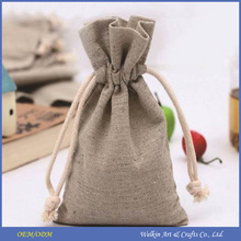 Eco-friendly jute bag for wheat, rice and coffee beans packaging