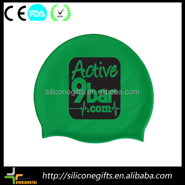 water sports triathlon rubber silicone zips latex swim caps
