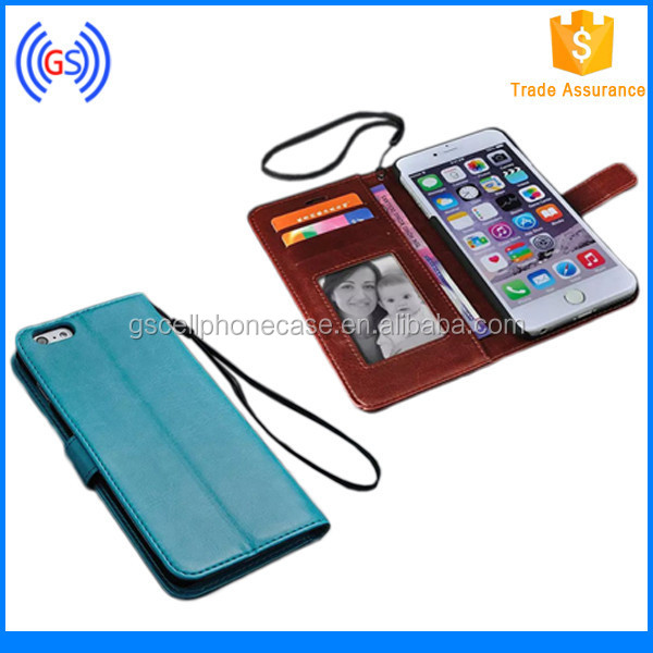 2015 Mobile Phone Cover for iphone6 case PC+PU Leather