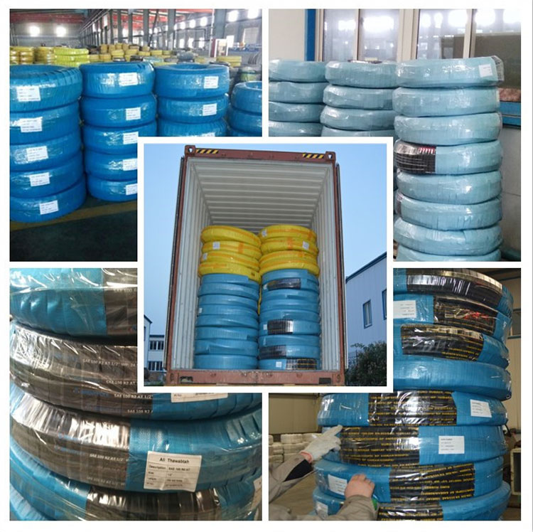 Customized various sizes fuel resistant high pressure hydraulic hose 1sn 2sn 4sh 4sp manufacturer supply