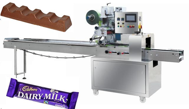 Automatic doughnut chocolate bar packing machine