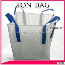 China pp woven jumbo bag for packing 1 ton polypropylene pp woven big bag/ jumbo bag for sand cement fertilizer on alibaba