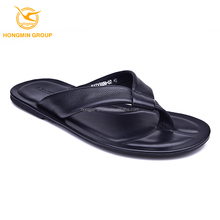 wholesale fashion Pakistan leather summer shoes flat rubber sole slippers flip flops beach men slippers