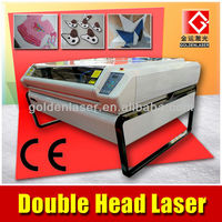 Two Head Conveyor Table Cloth Laser Cutting Machine