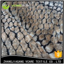 Hot Sale Indian Cheap Faux Snake Fur Knitted Pv Plush Fabric