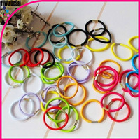 2016 Yiwu wholesale women fashion multi full colour elastic hair bands ponytail holders