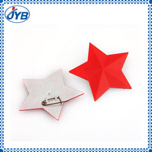 Cheap red metal star badges from china factory