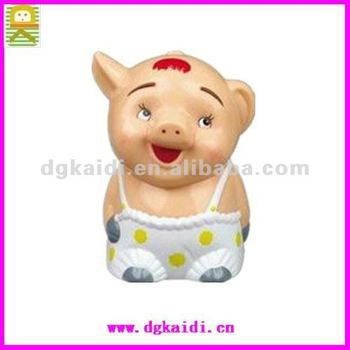 plastic lovely pig shaped figure toys for home decoration