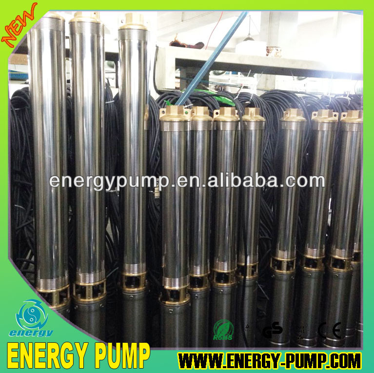 "4"" 100QJD2 Bore Well Electric Submersible Water Pumps for farm irrigation with brass outlet"
