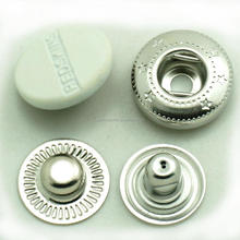white enamel painted custom snap fastener for clothes